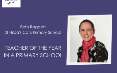 St Hilda's Teacher Gains Silver Award for Teacher of the Year in a Primary School
